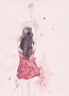 Fashion illustration by Emma Leonard