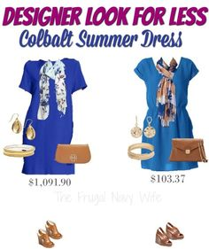 Looking for the perfect budget outfit or that big event this summer? Cobalt Blue is very big this year and the proof is in this designer look that is more than some house payments! OUCH! This designer look for less is the perfect way to get the expensive looks you love on a budget you can afford. You HAVE to check out these shoes!