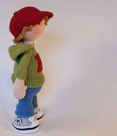 Crochet pattern for doll JOSH Deutsch English by CAROcreated