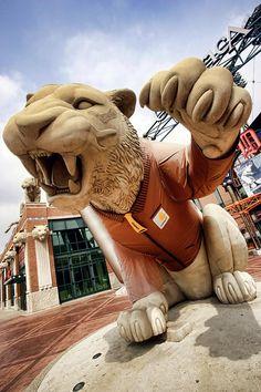 Pictures of Detroit Michigan | Detroit Tigers Tiger Statue Outside Of Comerica Park Detroit Michigan ...