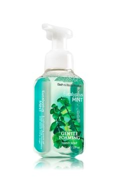 Eucalyptus Mint - Gentle Foaming Soap - Bath & Body Works - Keep hands clean & fresh with 3 of our Gentle Foaming Hand Soaps! Made with nourishing Aloe and protective Vitamin E, our best foam ever leaves hands clean, softly scented & oh-so-smooth. Bath N Body Works, Bath And Body, Perfume Body Spray, Hand Care, Shower Gel, Body Care, It Works, Foaming Soap, Cloud