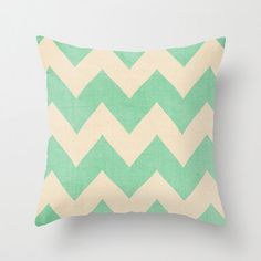 baby girl nursery aqua mermaid.   16 x 16 Malibu - Chevron Pillow. $27.00, via Etsy.