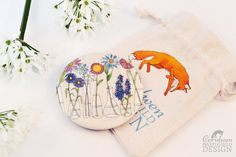 Flowers Fabric Pocket Mirror Cosmetic Mirror by ceridwenDESIGN