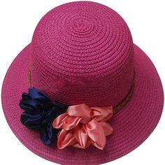 Moda Feminina Verão Ocasional Flor Grande Sol Aba Do Chapéu de Praia Chapéu  de Palha Decorativo 3b87e132e26