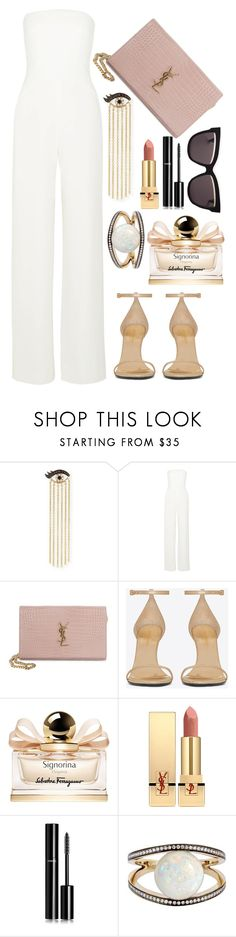 """""""Crema"""" by tag-noheuer ❤ liked on Polyvore featuring Sydney Evan, Maiyet, Yves Saint Laurent, Salvatore Ferragamo, Chanel, Noor Fares and Christian Dior"""