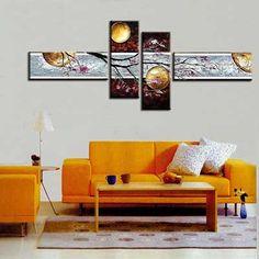 35 cuadros modernos abstractos, trípticos, dípticos…     Mil Ideas de Decoración