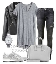 """#472"" by blendingtwostyles ❤ liked on Polyvore featuring Acne Studios, H&M, Hudson, Casadei, Givenchy, Michael Kors and ASOS"