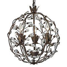 Sagemore 3-Light Pendant, Bronze Rust