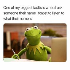 That's probably why I can't remember names lol Funny Shit, Really Funny Memes, Stupid Funny Memes, Funny Relatable Memes, Haha Funny, Funny Cute, Funny Texts, Funny Stuff, 9gag Funny