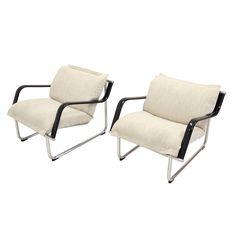 Pair of Lounge Chairs by Yrjö Kukkapuro | From a unique collection of antique and modern lounge chairs at https://www.1stdibs.com/furniture/seating/lounge-chairs/