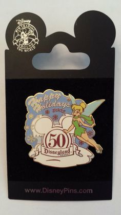 2005 Tinkerbell Happy Holidays 50 Disneyland Resort Disney Pin Trading Collectible Lapel Pins