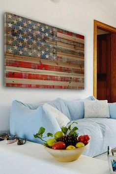 American Distressed Wood Wall Art