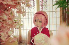 宇智波樱 - XiaoQi(小柒) Sakura Haruno Cosplay Photo - Cure WorldCosplay