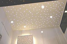 Fiber optic ceiling lights... looks like stars, love it!