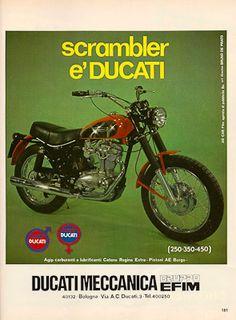 DUCATI Poster 450 Scrambler Jupiter 1973 1974 /& 1975 Suitable to Frame