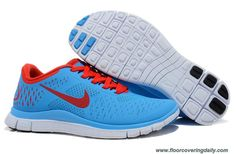 ddd8b3c6cbcef Nike Free 4.0 V2 Mens 511527-403 Blue Crimson Platinum Running Online Nike  Running