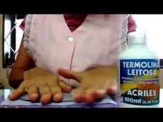 Decorando base acrílica com tecido (para topos e lembrancinhas) - YouTube