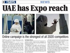 Dubai's Expo online campaign strongest of all 2020 competitors #DubaiExpo2020 #Expo2020 #Dubai #UAE http://www.7daysindubai.com/Dubai-s-Expo-online-campaign-strongest-2020/story-17808024-detail/story.html