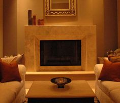 Granite Countertops, Tile and Stone Photos. Limestone Fireplace ...