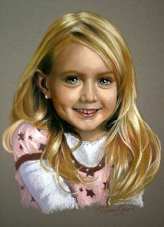 Beautifully rendered pastel portrait by William Char.