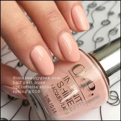 OPI - Infinite Shine Collection Spring/2016 - Half Past Nude