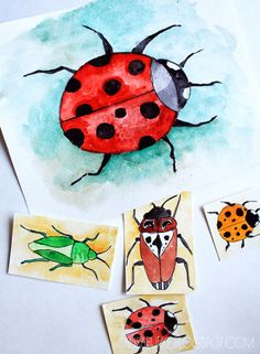 alisaburke: bugs fwatercolor-sharpie or pen
