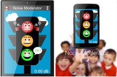 Shhhh! This is a noise monitor for Android. The traffic show red, yellow or green depending on how noisy your class are. Unlike some similar free behaviour management apps there are no ads.