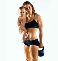 10 Seriously Fit Chicks of CrossFit - But I can almost promise you that she was active when pregnant!