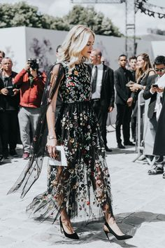 Chiara Ferragni in Valentino - Flower power