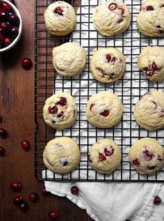 Fresh Cranberry Almond Soft Batch Cookies | The Kitchen Paper