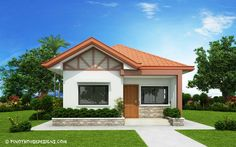 26 Stunning 3 Bedroom House Plans With Front View Design Small Bungalow, Modern Bungalow House, Bungalow House Plans, New House Plans, Small House Plans, Two Bedroom House Design, Three Bedroom House, Bedroom House Plans, Bedroom Small