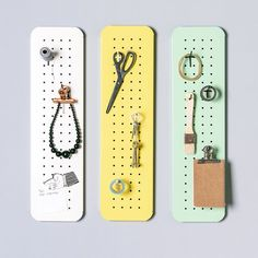 Is your craft room a mess? This mini metal pegboard organizer is just what you need to keep things running smoothly. Key Storage, Entryway Storage, Wall Storage, Craft Storage, Pegboard Organization, Jewelry Organization, Metal Pegboard, Mini, Craft Desk