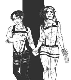 LeviHan Holding Hands by DYFM from Tumblr
