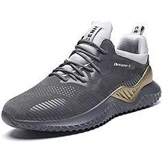a4970fdb443 RUMPRA Mens Running Shoes Comfortable Fashion Sneakers Outdoor Sports Road  Walking(Grey
