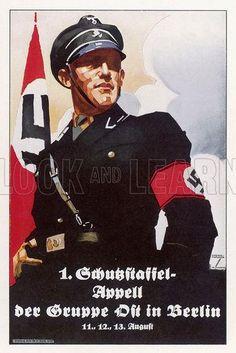 Nazi recruitment poster. Date 1938.