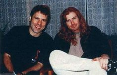 Two awesome metal frontmen. Bruce Dickinson from Iron Maiden and Dave Mustaine from Megadeth.