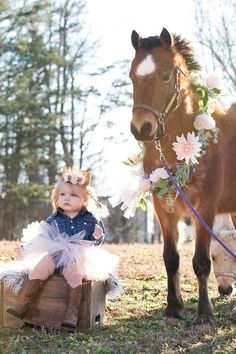 2nd Birthday Photos, Birthday Girl Pictures, 1st Birthday Photoshoot, 1st Birthday Girls, Cowgirl Birthday, Horse Birthday, Cowgirl Baby, Camo Baby, Birthday Cake