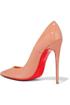 Christian Louboutin - So Kate 120 Patent-leather Pumps - Beige - IT