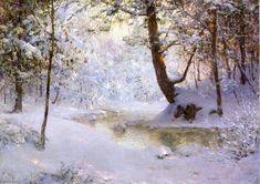 Neige-Laden, huile sur toile de Walter Launt Palmer (1854-1932, United States)