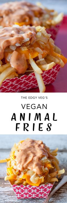 Vegan Animal Style Fries Vegan In N Out Burger The Edgy Veg Vegan Animal Style Fries Vegan In N Out Burger The Edgy Veg S N sinaneogy Food Vegan animal nbsp hellip Cheese Recipes In And Out Burger, Big Mac, Vegan Foods, Vegan Dishes, Vegan Lunches, Vegan Treats, Edgy Veg, Vegetarian Recipes, Cooking Recipes