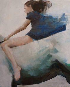 Hommage, 2014.  Oil, 33.5 x 39.4 x 0.8 in. Fanny Nushka Moreaux. $3,900