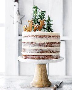 Xmas Food, Christmas Sweets, Christmas Cooking, Noel Christmas, Christmas Cakes, Magical Christmas, Holiday Cakes, Christmas Birthday Cake, Simple Christmas