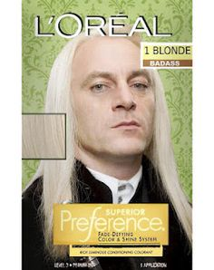 """""""Draco, fetch the dye.  Daddy's roots are showing.""""  YES."""
