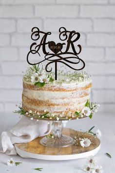 Wedding Cake Topper Initials Cake Topper Names