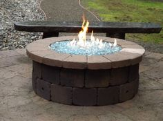 Christine's fire pit. See how to build it yourself.