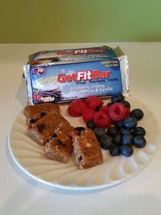 Amazon.com: GetFit Bar Blueberry, Cherry, Cashew & Vanilla Paleo Friendly Custom Whole Food Nutritional Energy Snack Bar - Chewy Recipe!: