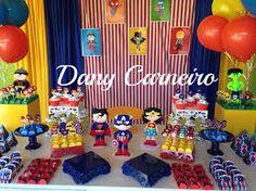 Resultado de imagem para festa de super herois