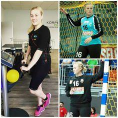 Polish handball goalkeeper Aleksandra Baranowska from BSV Sachsen-Zwickau works with miha bodytec for incredible performances!  #mihabodytec #handball #ems #emstraining