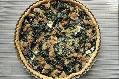 Sausage and kale tart