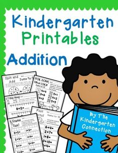 Kindergarten Printables, Worksheets, and games to practice Addition in a FUN way!This pack is available at a discount in the Kindergarten Printables - Endless Bundle with future packs added FREE!This pack contains 29 printable pages that can be used in a variety of ways.